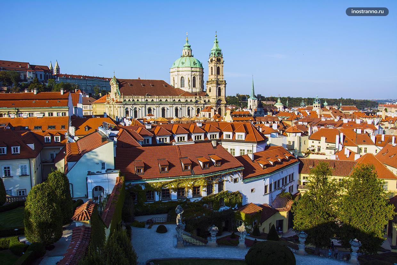 Вртбовский сад в Праге красивая смотровая площадка