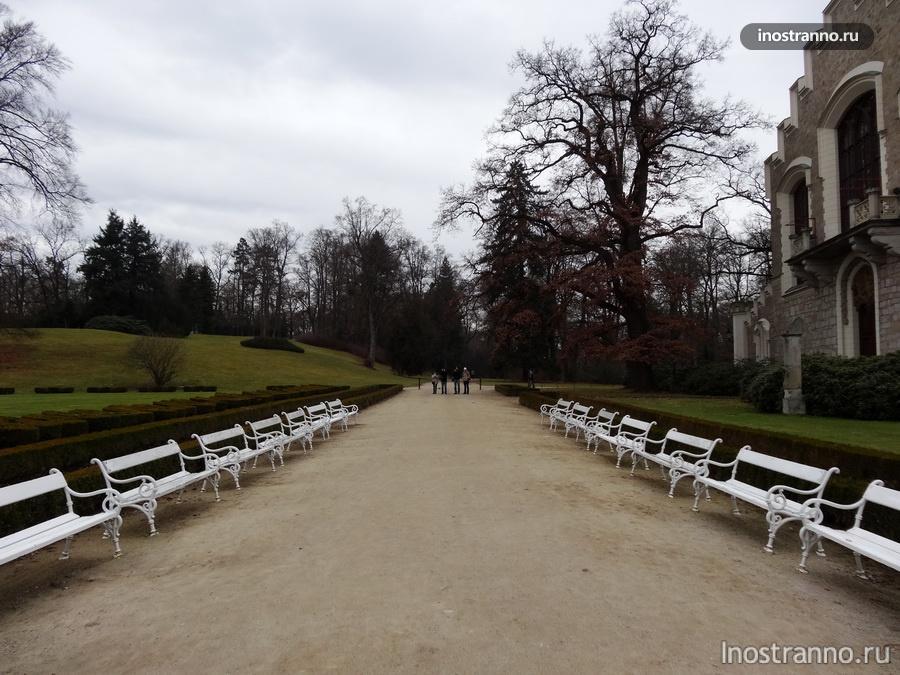парк в замке замок глубока над влтавой