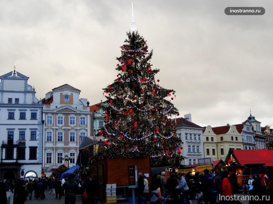 Староместская площадь на Новый год