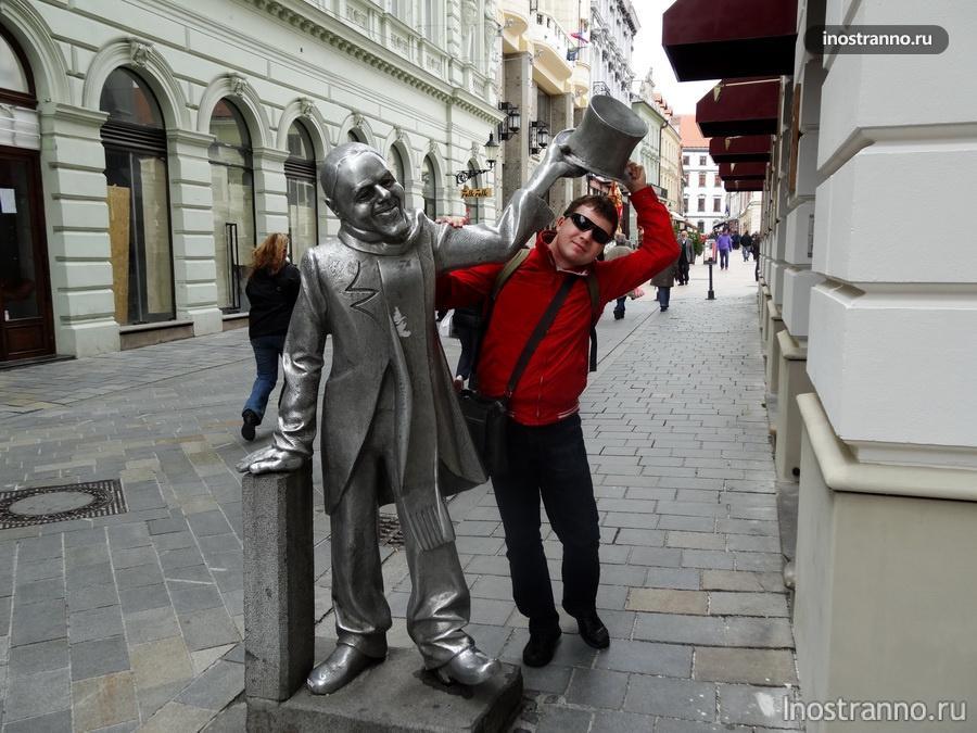 веселая статуя Schoener Naci