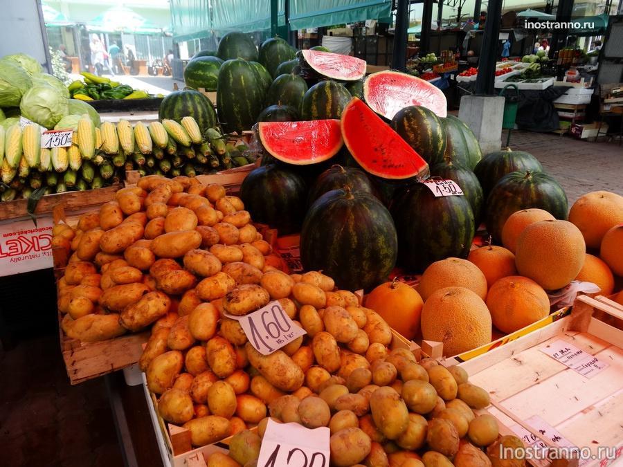 цены на рынке в Бургасе