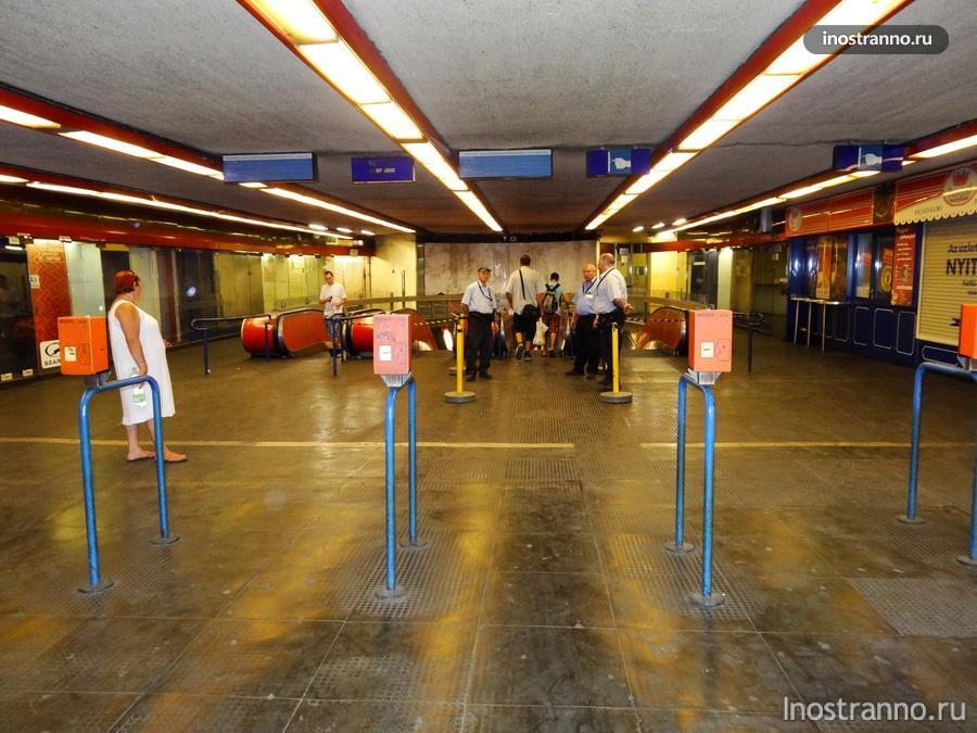 вход в метро в Будапеште