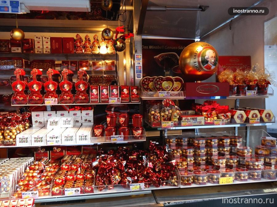 конфеты Моцарт в Австрии