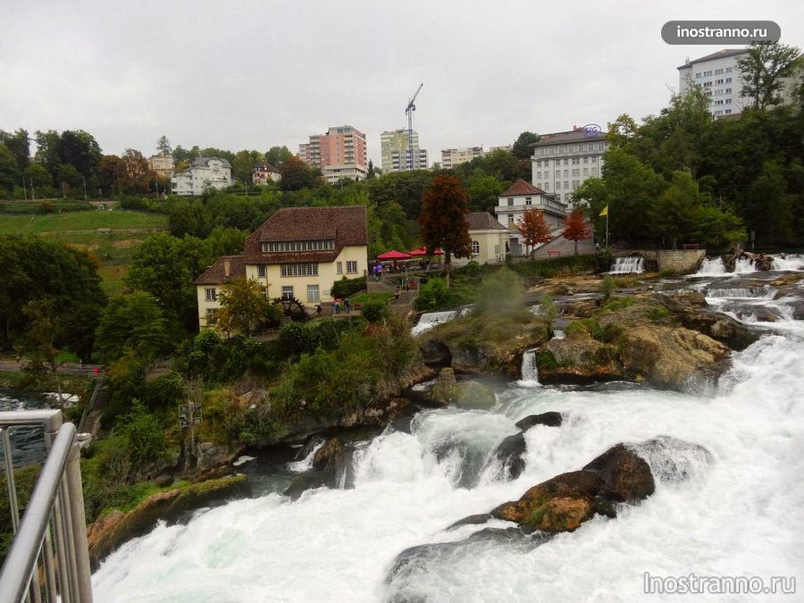 Рейнский водопад в Швейцарии