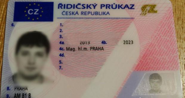 Замена водительского удостоверения в Праге