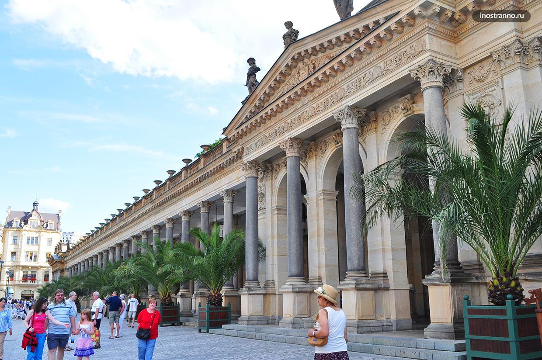 Млынская колоннада источник в Карловых Варах
