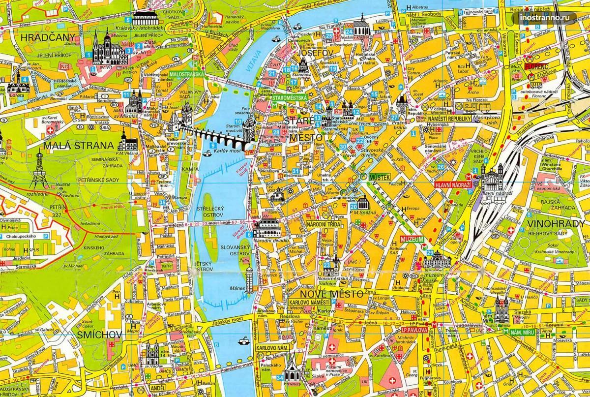 карта Праги на русском языке