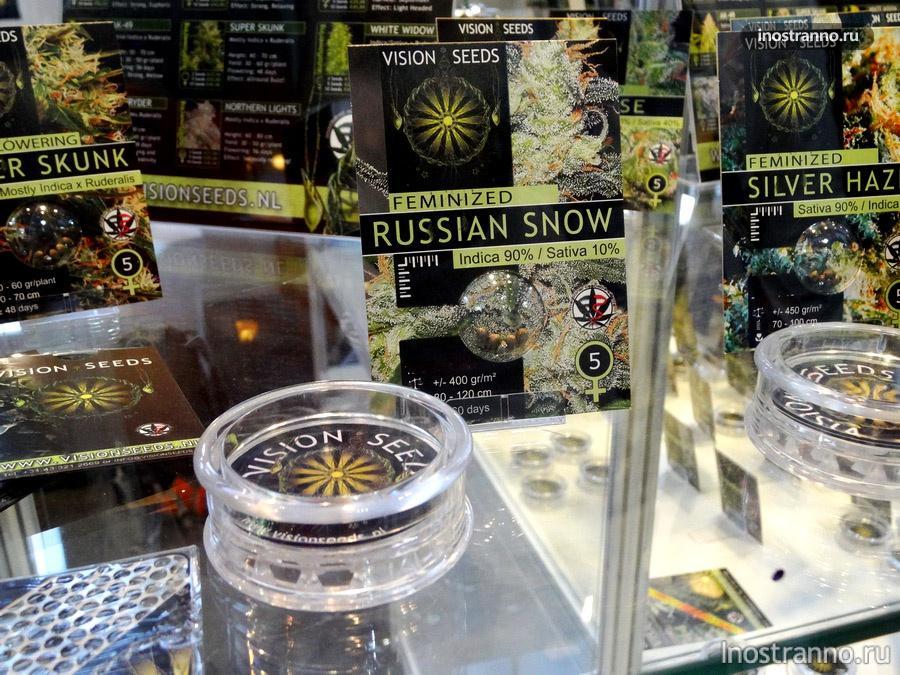 сорт конопли Русский снег