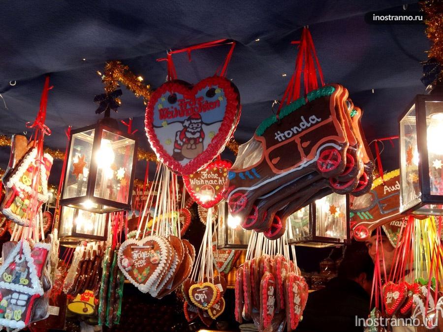 пряник на рождественском рынке