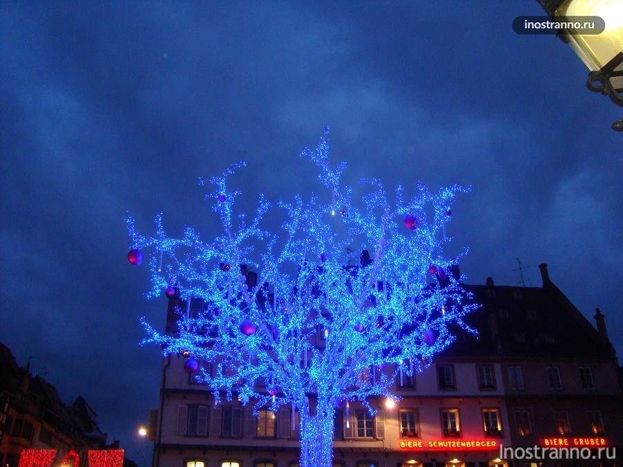 подсветка на рождество франция