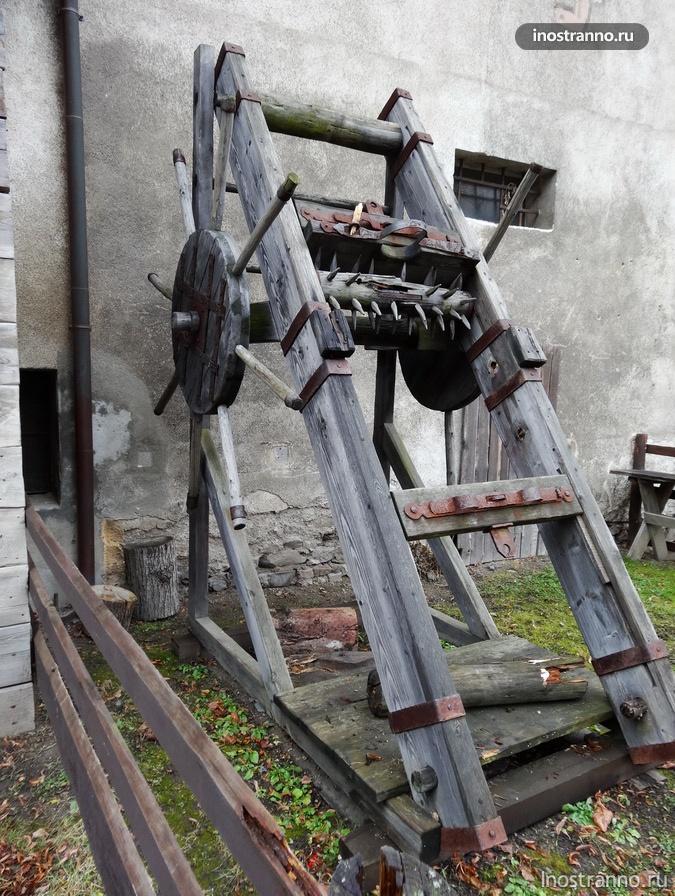 орудие пыток в чешском замке