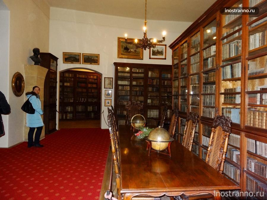 библиотека в замке Крживоклат
