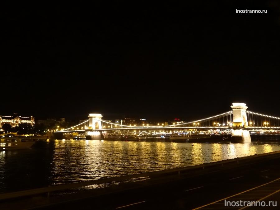 цепной мост в будапеште через дунай