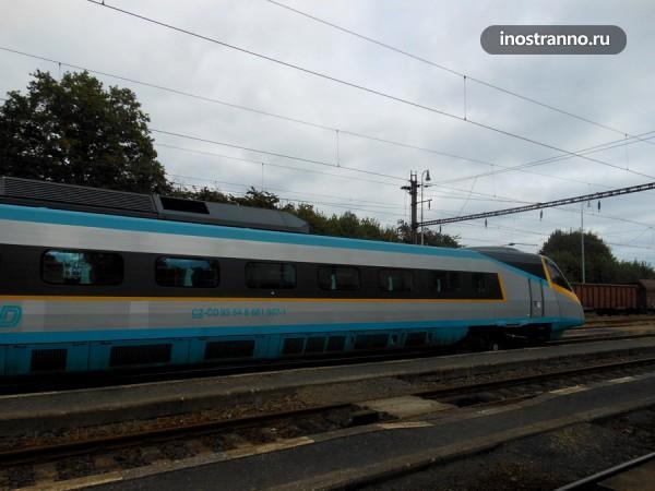 Скоростной поезд в Праге