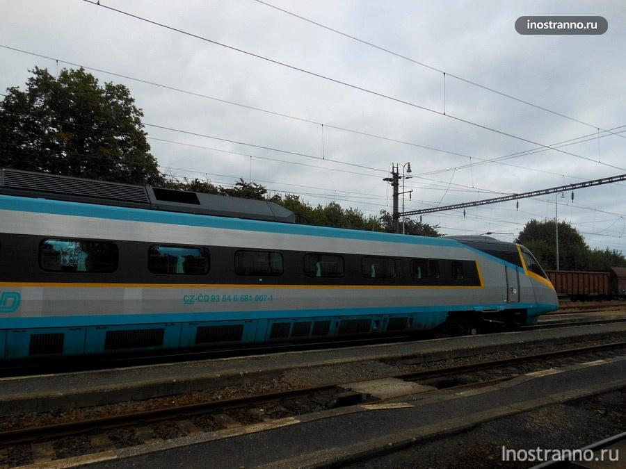 скоростной поезд Pendolino в Чехии