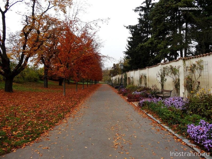 парк Вышеград в Праге