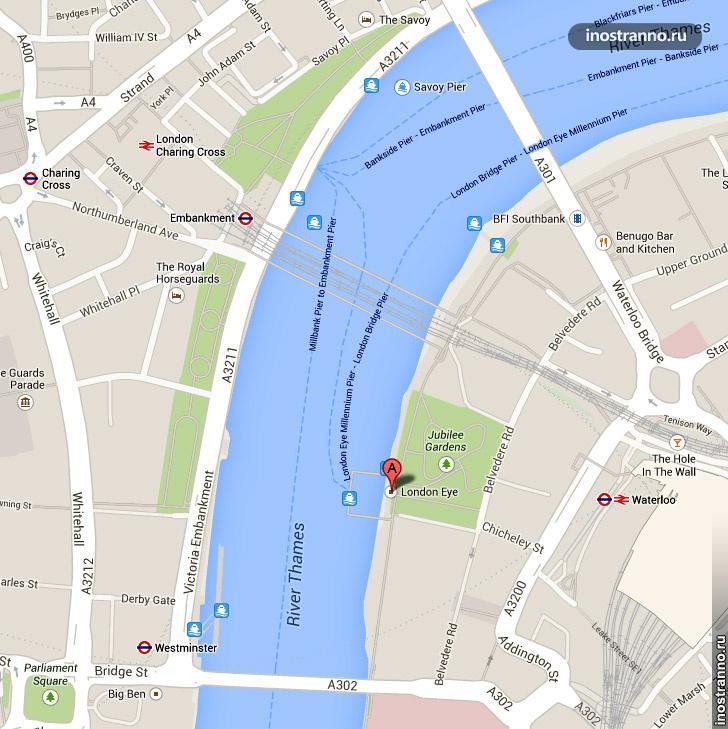 карта london eye