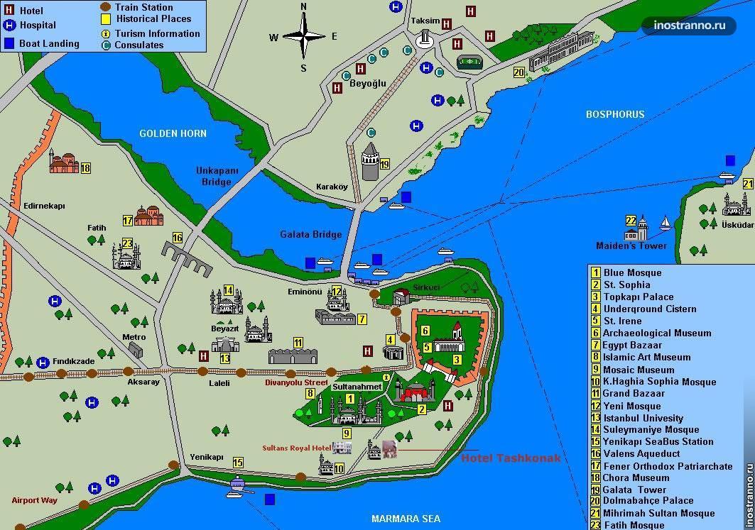 карта стамбула на русском языке