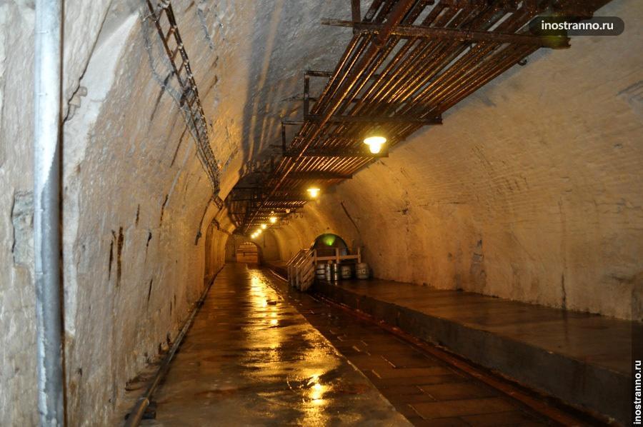 Пивные туннели в городе Пльзень