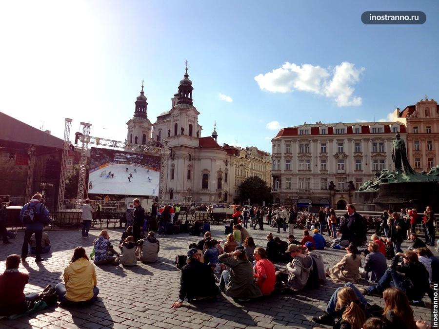 Экран на Староместской площади