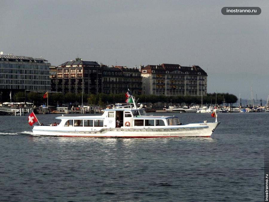 пароход на женевском озере