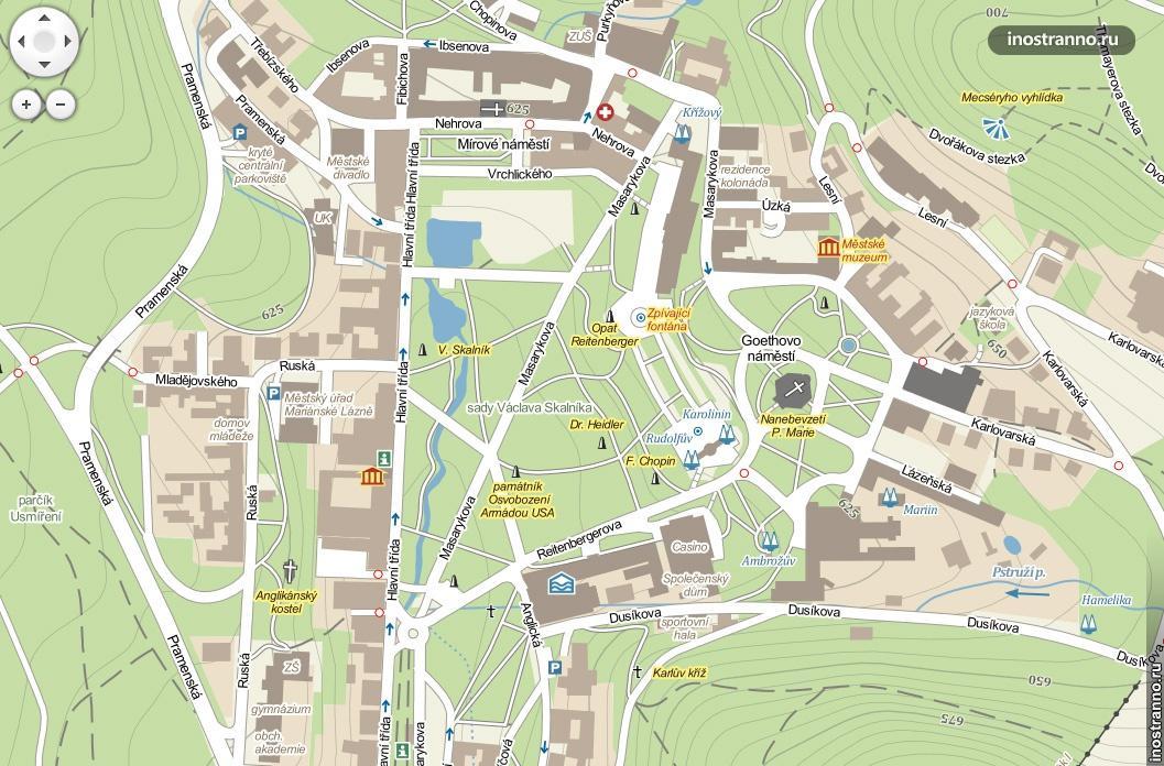 карта города марианские лазни