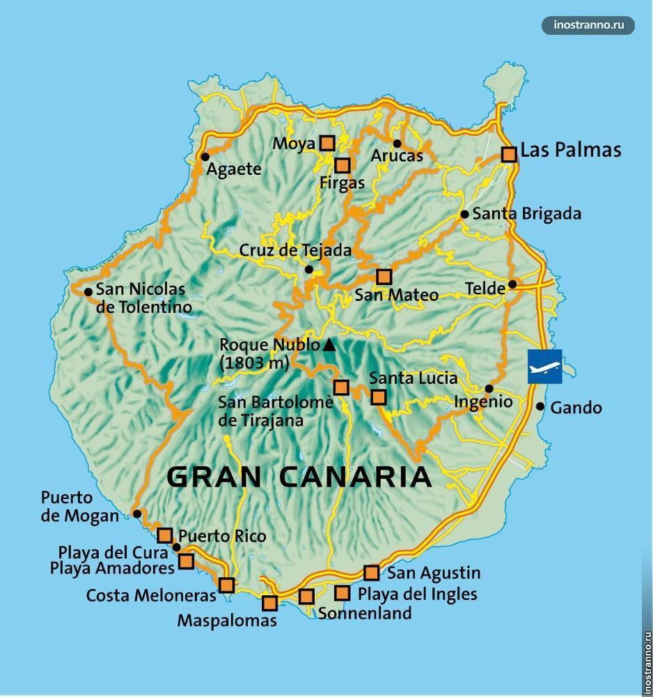 Гран Канария карта