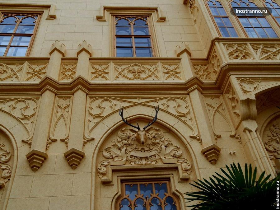 облик чешского замка Леднице