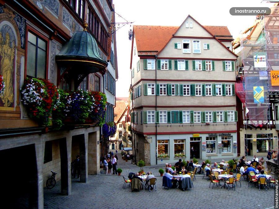 рыночная площадь в тюбингене