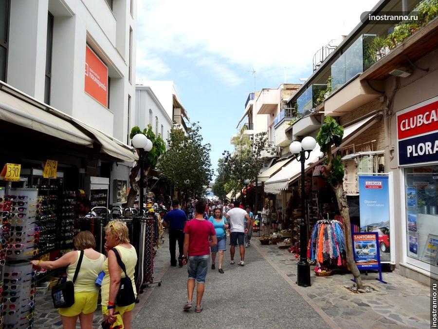 улочка крита, греция