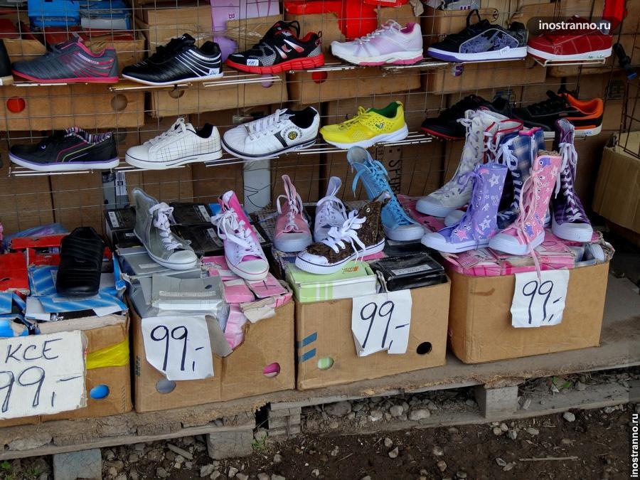 Цены на обувь в Праге