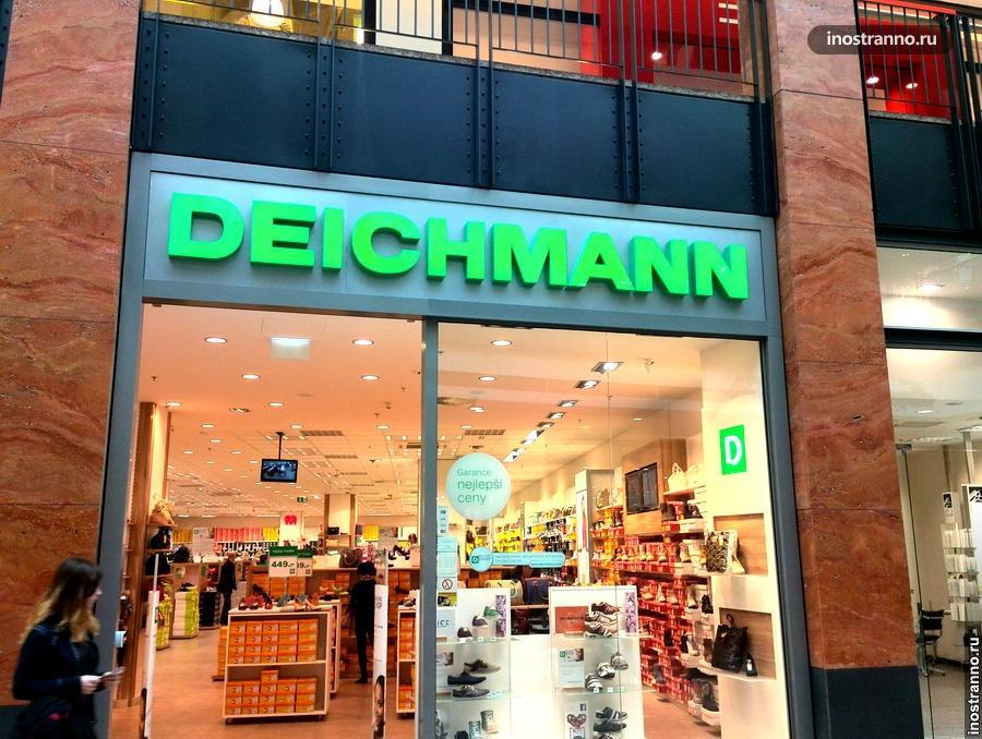 Обувной магазин Deichmann в Праге