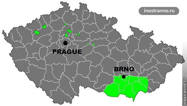 Винные регионы в Чехии