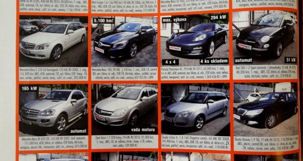 Цены на машины в Чехии