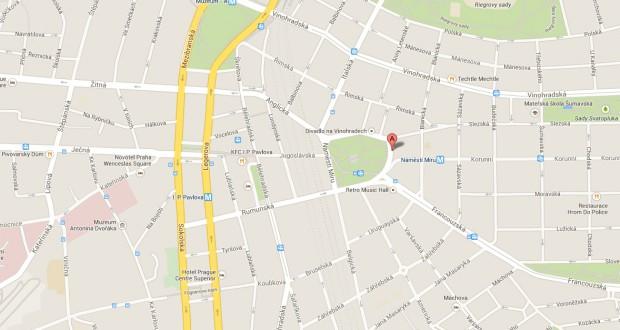 Онлайн карты Праги