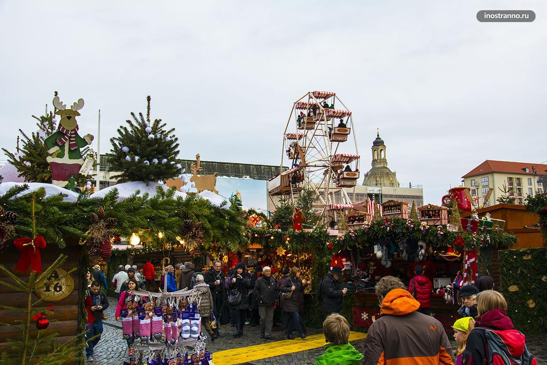 Рождественский базар в Дрездене