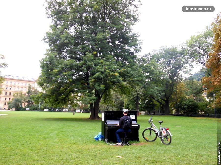 Пианино на улицах Праги