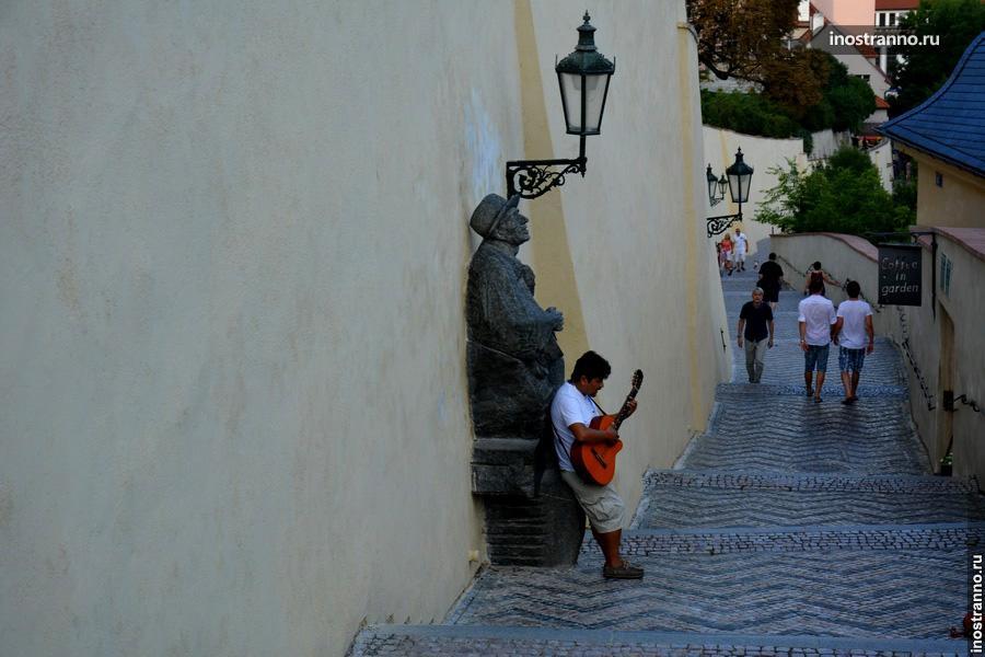 Уличные музыканты Праги