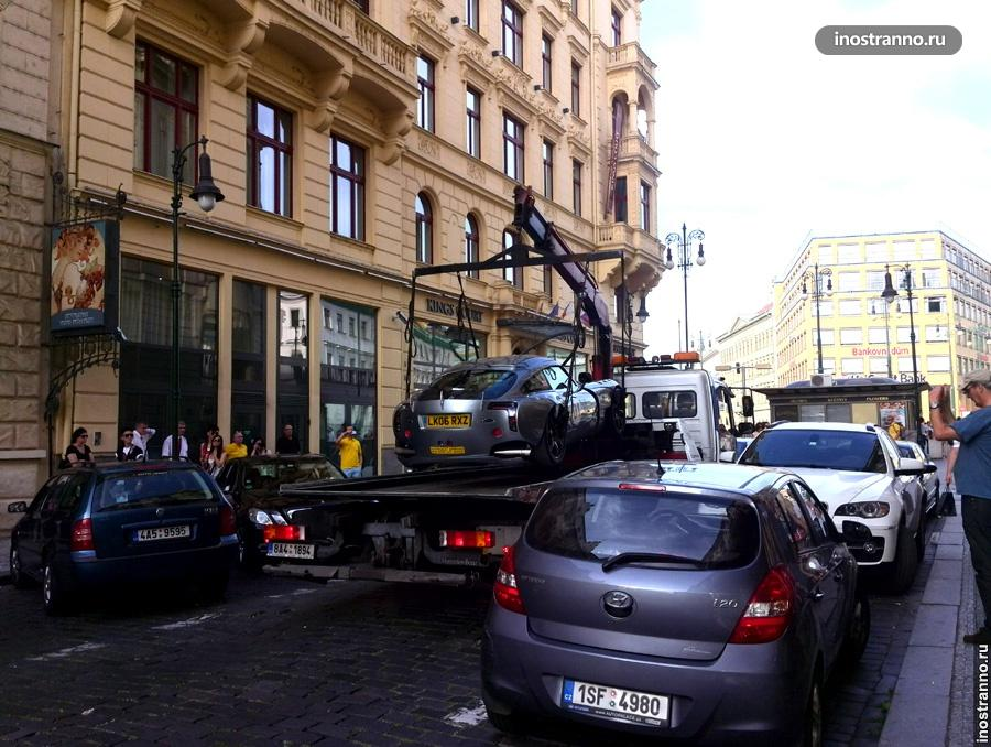 Эвакуация автомобиля в Европе