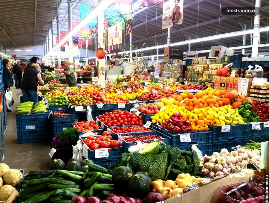 Фрукты и овощи в Чехии