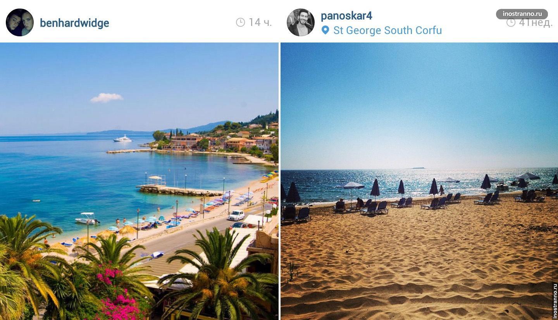 Остров Корфу пляж