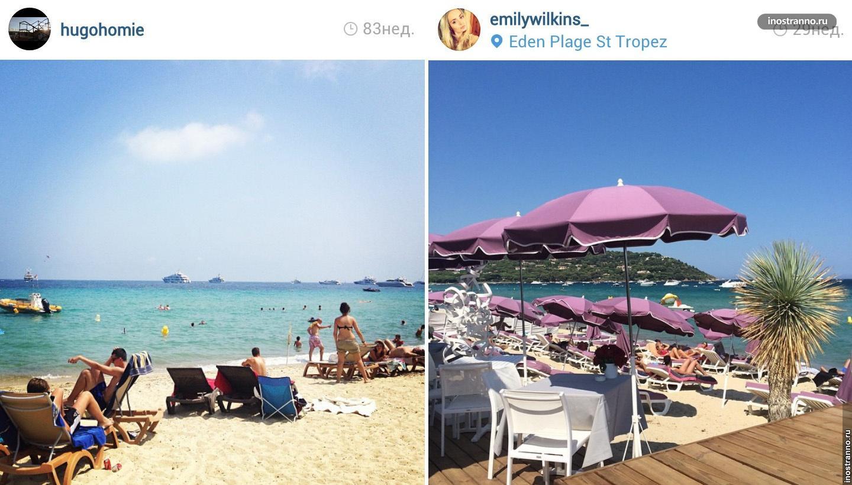 Пляж в Сен-Тропе