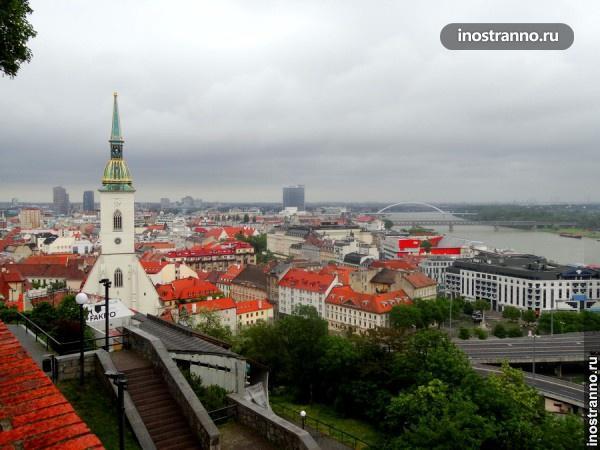 Обзорная площадка в Братиславе