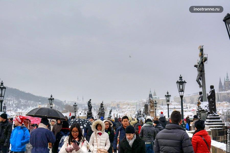 Карлов мост зимой