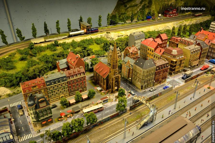 Железнодорожный музей в миниатюре в Праге