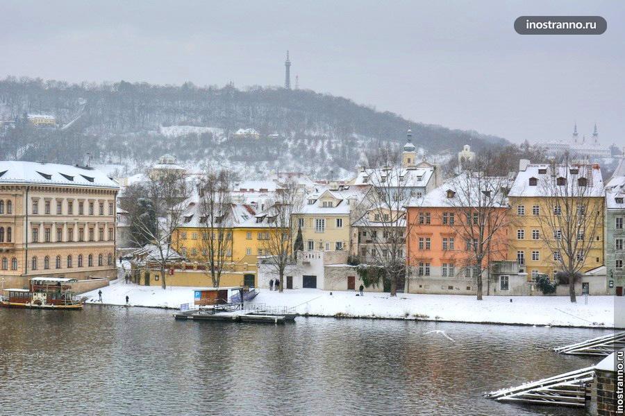 Холм Петршин зимой