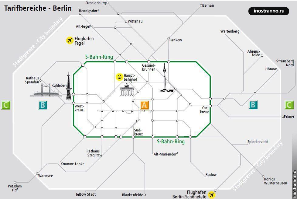 Тарифные зоны Берлина