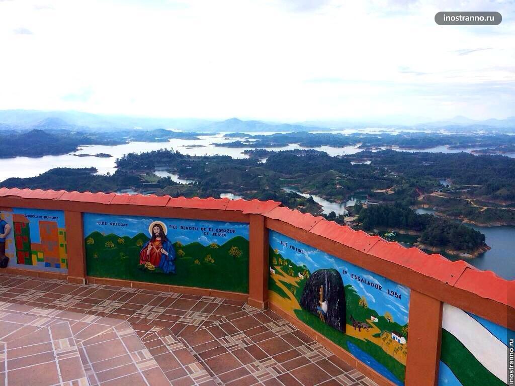 Озеро в Гуатапе, Колумбия