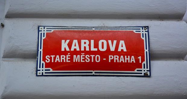 Номера домов и названия улиц в Праге