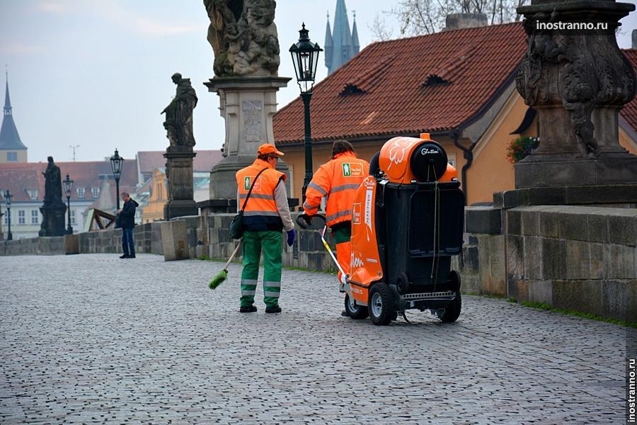 Уборка улиц в Чехии